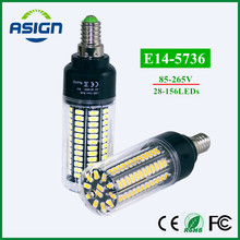 LED Bulb 5736 SMD More Bright 5730 LED Corn lamp Bulbs light Real Watt 3.5W 5W 7W 8W 12W 15W E14 85V-265V No Flicker