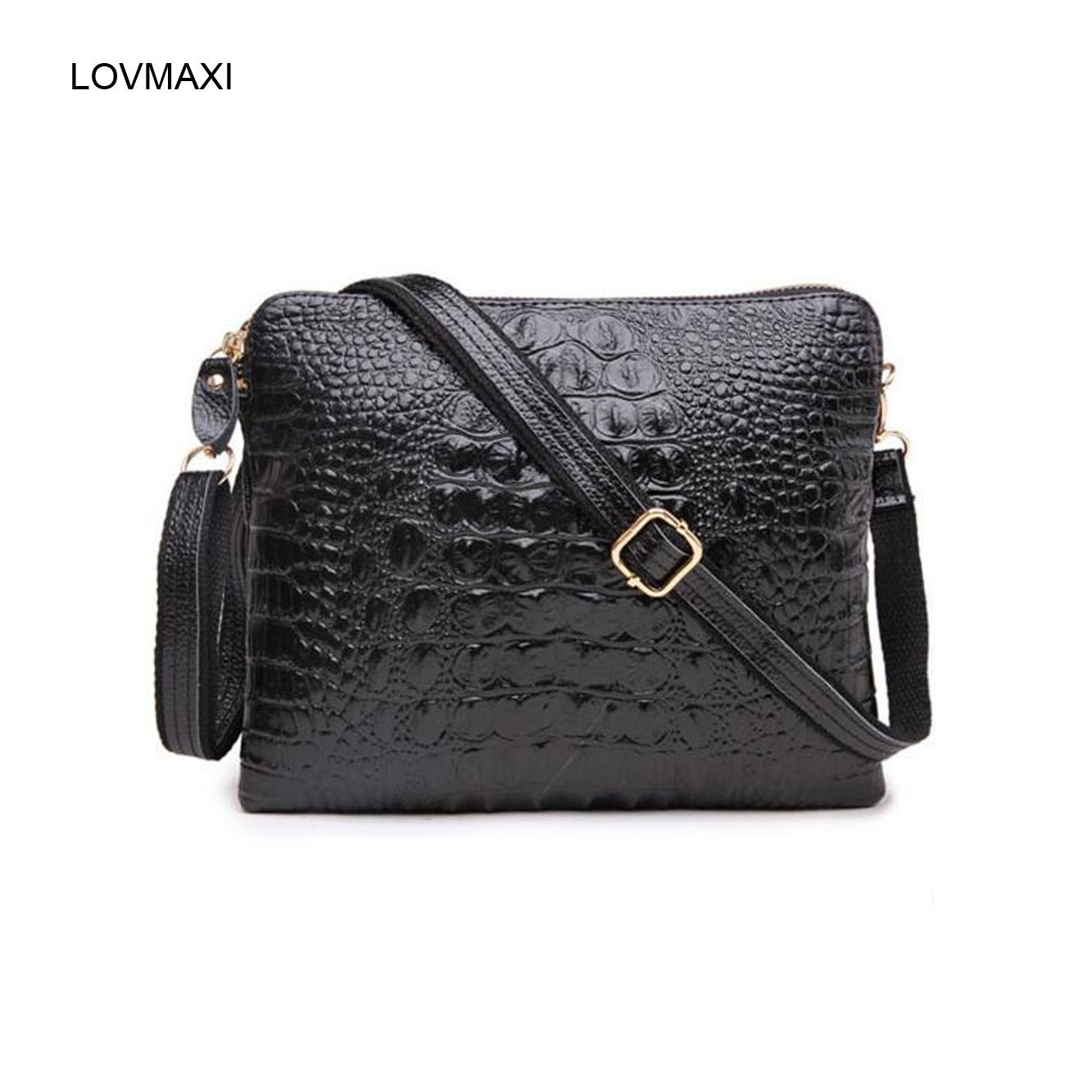 LOVMAXI 2017 Crocodile Pattern Womens Genuine Leather Messenger Bags Day Clutches Fashion Crossbody Bags  Shoulder Handbags<br><br>Aliexpress
