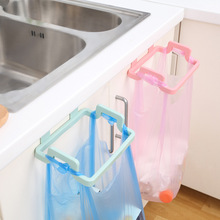 1pcs Hanging Trash Rubbish Bag Holder Papelera Garbage Rack Cupboard Cabinet Storage Rag Hanger Trash Can Bin 2017 New Arrival(China)