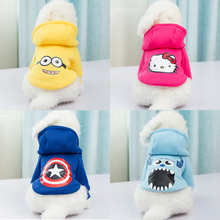 Bruce&Williams 4 Styles Cartoon Pet Dog Clothes Warm Winter Dogs Coat Puppy Hoodie Clothing For Small Medium Dogs Cat DC0466