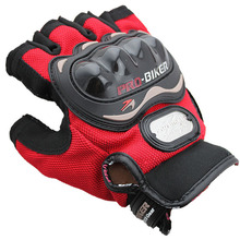 Men's Motorcycle Racing Boutique Half Finger Protective Gloves Large Congyou(China)