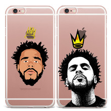 J Cole Crown Design Phone Cases Cover For iPhone 7 7Plus 5 5S SE 6 6S Plus Soft TPU Silicone Protective Coque For iPhone 7 4.7""