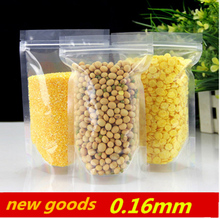 Reclosable clearly stand up can be heat sealing package bags Thicken plastic packaging tea coffee pouches