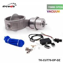 TANSKY- 70mm Open style Vacuum Exhaust Cutout Valve with Wireless Remote Controller Set For Mustang GT V8 TK-CUT70-OP-DZ