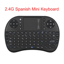 2.4G Mini Spanish Wireless Keyboard Touchpad Mouse For Smart TV Box HTPC For Orange Pi Raspberry Pi 3 Free Shipping