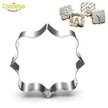 Delidge Plaque Frame Stainless Steel Cookie Cutter Rectangle Square Oval Biscuit Mold Christmas Kitchen Baking Pastry Tools