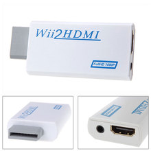 2017 For Wii to HDMI Wii2HDMI Adapter Converter Full HD 1080P Output Upscaling 3.5mm Audio Video Output Hot Sale