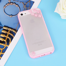 Simple For Apple iPhone 4 4S 5 5S 5SE SE 5C 6 6S 7 Plus PC Acrylic Hard Case Edge Soft TPU Bling Diamond Flower Meteor Cases