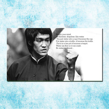 Bruce lee Chinese Kongfu Hot Movie Art Silk Canvas Poster 13x24 24x43inch Black White Picture for Room Wall Decor (more)-3(China)