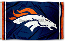 Denver Broncos Outdoor Logo Large Flag 3' x 5' Banner brass metal holes Flag