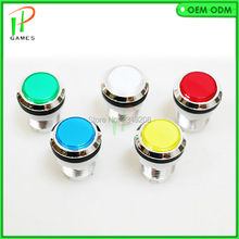 10pcs/lot 5V CHROME Plated push button led illuminated arcade button with microswitch for DIY jamma game parts(China)