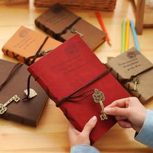 Vintage Leather Notebook Key Design Vintage Cowhide Paper Retro Straps Diary Doodle Book Notepads Diary