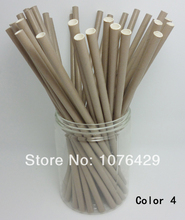 50 Pcs Paper Straws Solid Color Drinking Straws For Wedding Party Birthday Decoration Color 4