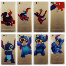 Luxury Spider-Man Painting Cover For Iphone 4 4s Lovely Stitch Cartton Soft TPU Silicone Transparent Case For iphone 4 4s Case(China)