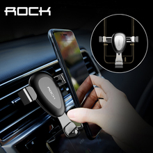 ROCK Updated Gravity Car Phone Holder For iPhone 7 6 6s Plus Samsung S8 Air Vent Outlet Universal Stand For 4-6 Inch Smartphone(China)