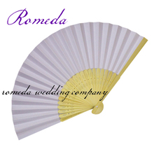 With Free Shipping 50Piece/Lot Wholesale Paper Decoration For Party Cheap Wedding Favours  Wedding Paper Fan