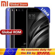 "Original Xiaomi Mi6 Mi 6GB 128GB Mobile Phone Snapdragon S835 Octa Core 5.15"" 1920*1080 Dual 12.0MP 3350mAh Android Smart Phone"