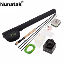 Nunatak  Rod Reel Combo Packages Include Fast Action Fly Rod & Alloy Reel & Rods Case Leaders  Tippet Line  Gifts Model 7/8