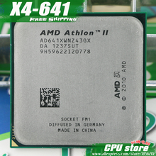 Free shipping AMD X4 641 Quad-Core FM1 2.8GHz 4MB 100W CPU processor pieces X4-641 (working 100%) 641 ,there are, sell X4 631(China)