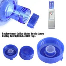 5Pcs Blue Gallon Drinking Water Bottle Caps Plastic Screw on Cap Replacement Anti Splash Lids