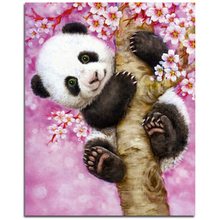 Animals Panda Hot Sale Diamond Embroidery, Diamond Painting Cross Stitch, Picture Of Rhinestones Full Square Diamond Mosaic Kits