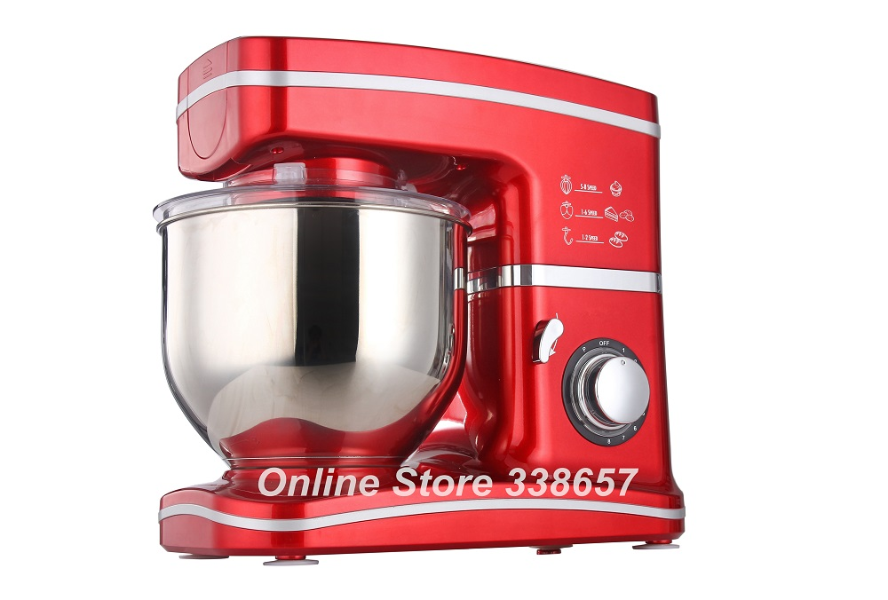 Electric 5.5L chef home kitchen cooking food stand mixer, cake dough bread mixer machine 1000W 220V(China)