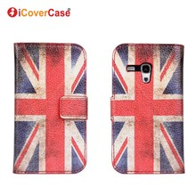 Coque for Samsung S3 Mini Case Fundas Cover for Samsung Galaxy S3 Mini i8190 Capa Retro UK USA Flag Wallet Flip Leather Carcasas(China)