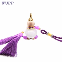 Dropship wupp Top Quality Car Ornaments Gourd Crystal Perfume Bottle Car Pendant Crystal Car Accessories Aug.9(China)