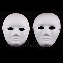 10pcs/lot Thicken Paper Mache Plain White Masks For Sale Full Face Free shipping(China)