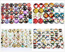 Hot Sale 50pcs 12mm 4 style New Fashion Mixed Handmade Photo Glass Cabochons Pattern Domed Jewelry Accessories Supplies(China)
