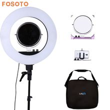 "fosoto 18"" 5500K Dimmable LED Adjustable Ring Light 480 led 5500K Camera Macro Ring Light for Makeup & Beauty Photography/Video(China)"