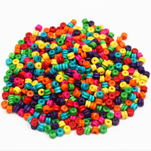 250pcs 7.5x5.5mm mixed color Column Natural Wood Spacer Beads Wooden Beads Toys For Baby Smooth Fashion Jewelry Making DIY Craft(China)