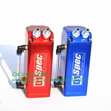 Aluminum D1 Oil Catch Can Square Type Oil Catch Tank Red Blue Black Silver For Racing Car(China)