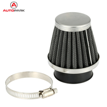 High Quality Double Layer Steel Filter Gauze Clamp-on Air Filter 35mm 38mm 39mm 42mm 46mm 48mm Optional for Scooter Minibike ATV(China)