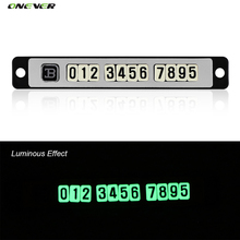 Luminous Temporary Parking Card With Suckers And Night Light Phone Number Card Plate Car Styling Golden Silvery Car Accessories