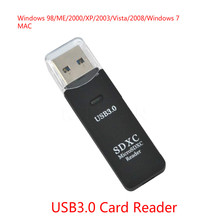 1PC Antiseismic USB 3.0 Micro SDXC SD TF Memory Card Reader Adapter SD/MicroSD/TF Transflash Card USB3.0 High-Speed