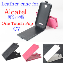 High Quality New Original Alcatel C7 Leather Case Flip Cover for Alcatel C7 Case Phone Cover In Stock(China)