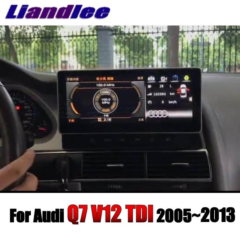 Liandlee Car Multimedia Player NAVI For Audi Q7 V12 TDI 2005~2013 Original Car System inch Radio Stereo GPS Screen Navigation