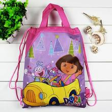 1 pieces / los Dora Kids Cartoon Drawstring Trainers for Girls, Kids Birthday Party Favor, Mochila School Kids Backpack X336