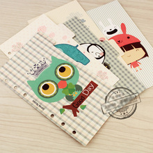 Jamie Notes Notebook Planner Accessories Clean Fresh Grid Dividers Inner Page for Filofax Creative Gift Stationery 5pcs/Set