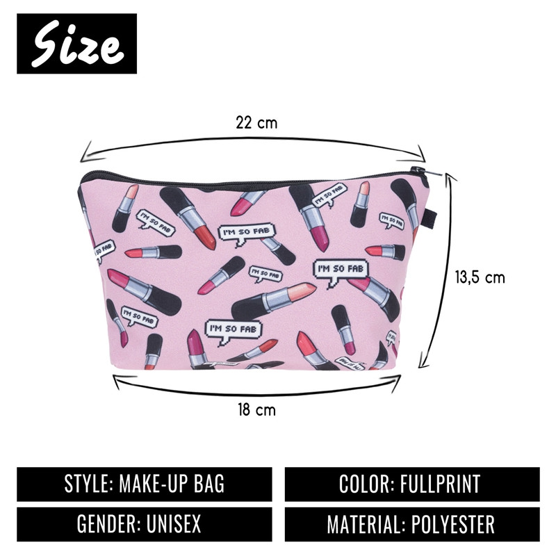 SIKOTE New Im So Fab Lipstick Cosmetic Bags Sailboat Charming Pink Color Make up Bag Ladies Trousse De Maquillage Lovely Case 2