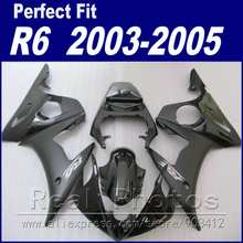 Free custom motorcycle parts for YAMAHA R6 fairing kit 2003 2004 2005 glossy&matt black  Fit YZF R6 fairings 03 04 05