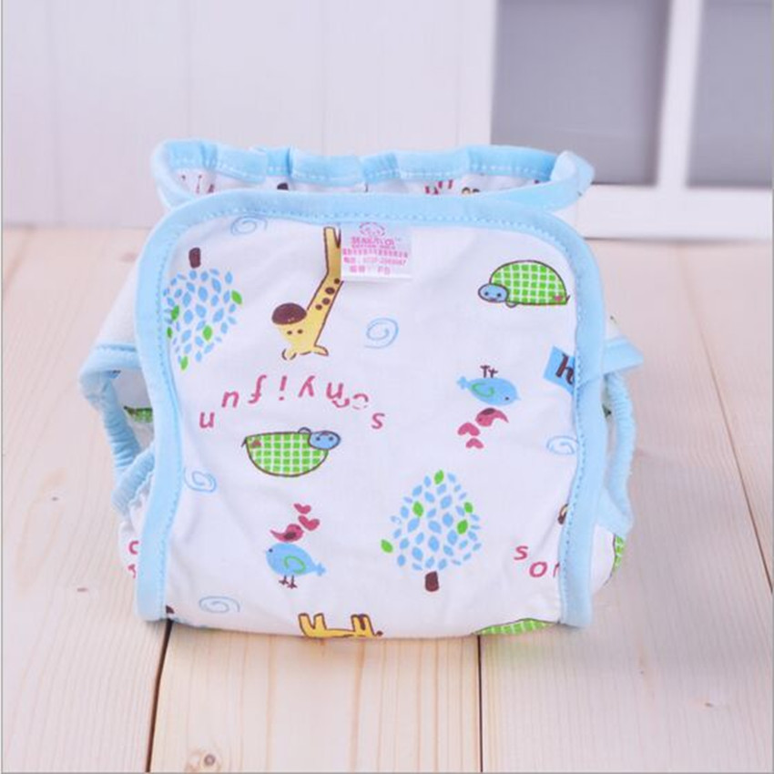 6 piece baby nappy Disposable Leak proof Diaper pants Dry Leakproof Diaper Bag Strengthen The Leakproof Diaper<br>