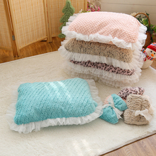 New Pet Cat Dog Bed Mat 5 Colors Lace Kennel Cute Cat Little Pet Nest Pad Top Quality For Promotion DOGGYZSTYLE(China)