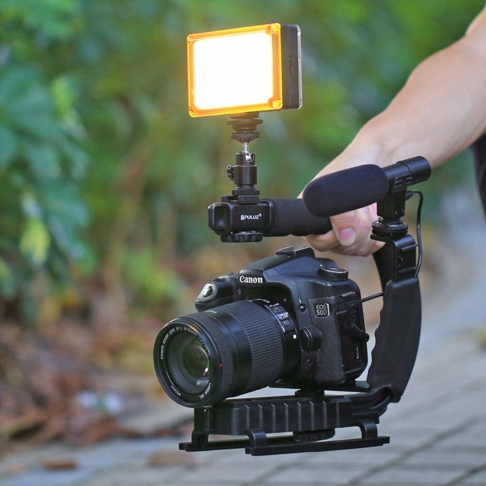 Pro Video Stabilizing Handle Grip for Olympus D-300L Vertical Shoe Mount Stabilizer Handle