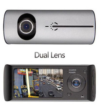 New Arrival 2.7 inch LCD Car Dual Lens DVR Camera Video Recorder Full Hd 140 Degree Wide Angle GPS Logger Camcorder  gt300