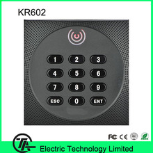LED card reader KR602 Wiegand access control system RFID card and keyboard reader  IP64 waterproof smart card reader