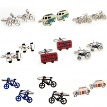 Fashion Bike Bus Motor Sports Car Tractor Paul Cufflink Cuff Link 1 Pair Free Shipping Biggest Promotion(China)