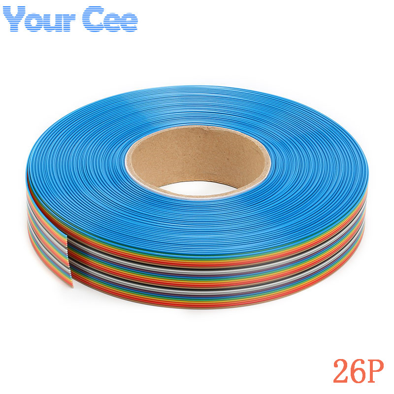 5m font b 16 b font FT 1 27mm Spacing Pitch 26 Way 26P Flat Color online buy wholesale 16 pin ribbon cable from china 16 pin ribbon  at gsmportal.co