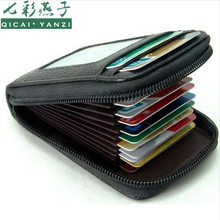 2017 Mens/Womens Fashion Mini Leather Wallet ID Credit Cards Holder Organizer Purse Top Quality Free Shipping N535